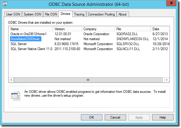 Installing and Configuring the ODBC Driver for Windows