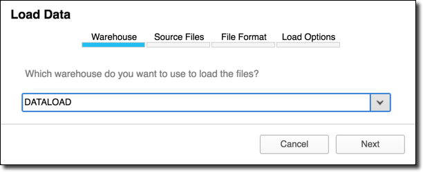 Loading Using the Web Interface (Limited) — Snowflake