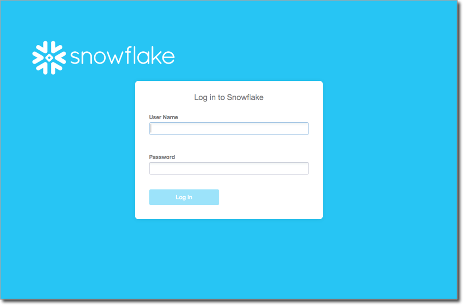 Logging into Snowflake — Snowflake Documentation